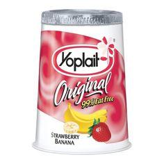Yoplait Original Strawberry Banana Yogurt 6 oz