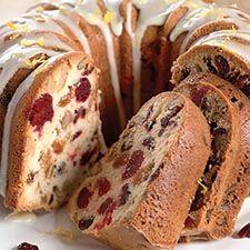 Orange-Cranberry-Nut Fruit Cake