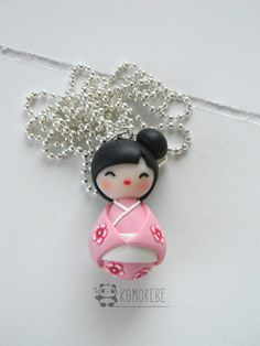 Kokeshi Doll Japan Collana