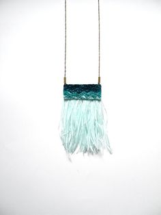 Hand embroidered Velvet Ostrich Feather Necklace / by jujujust