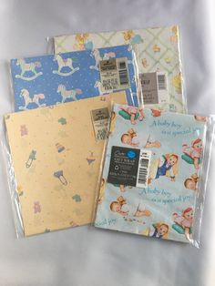 New Lot Vintage Baby Shower Gift Wrapping by BlueHeavenVintage
