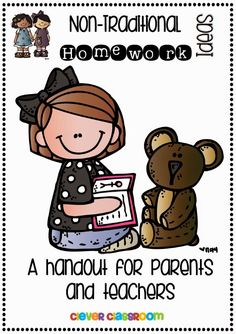 Non Traditional Homework Ideas FREE Handout parents, children & teachers Future Classroom, School Classroom, School Fun, Classroom Ideas, School Stuff, Primary Classroom, Classroom Resources, School Ideas, Parents As Teachers
