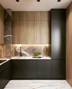 Modern Kitchen Interiors, Luxury Kitchen Design, Kitchen Room Design, Modern Kitchen Cabinets, Contemporary Kitchen Design, Home Room Design, Kitchen Cabinet Design, Home Decor Kitchen, Interior Design Kitchen