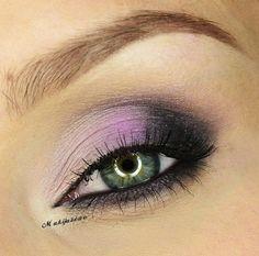 Lavender and Black Smoky Eye