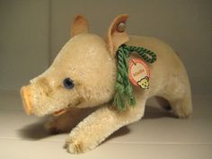 In my ETSY Shop: Steiff Vintage Jolanthe Mohair Pig ~ US  Zone Tag ~ 1952 to 1953