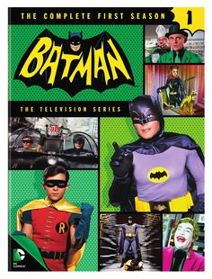 """Holy box set, Batman! The complete first season of the campy '60s classic starring Adam West and Burt Ward is collected here on five DVDS. Episodes include """"Hi Diddle Riddle,"""" """"Smack in the Middle,"""" """""""