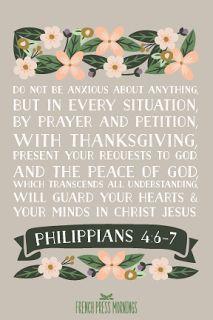 French Press Mornings Print - Philippians 4:6-7 #encouragingwednesdays #fcwednesdaywisdom #quotes