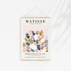 Matisse Cutout Poster Henri Matisse Print Matisse Exhibition | Etsy Henri Matisse, Matisse Cutouts, Exhibition Poster, Wedding Frames, Modern Art Prints, Paper Texture, Marie, Art Pieces, Gallery Wall