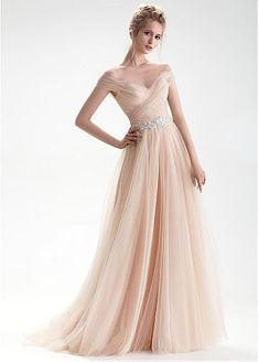 2b230043568  163.99  Wonderful Tulle Sheer Jewel Neckline Natural Waistline A-line  Wedding Dress With