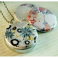 Floral Locket Necklace  Interchangeable Magnetic and by polarity, $24.00