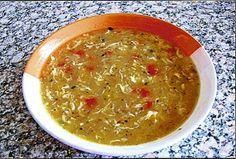Vločková polévka se zeleninou Czech Recipes, Ethnic Recipes, Food And Drink, Soups, Fitness, Soup, Keep Fit, Rogue Fitness, Chowder