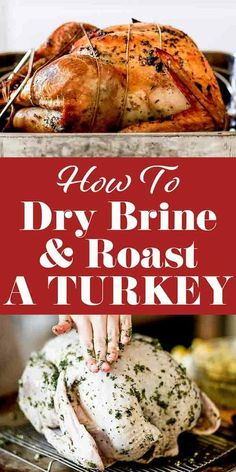 Want the most perfectly moist, flavorful, and juicy Thanksgiving turkey? Try dry-brining! All you do is rub the turkey with salt and let it hang out in the fridge for 24 to 72 hours. No muss, no fuss. The best turkey you'll ever eat will soon be yours! Easy Turkey Brine, Moist Turkey, Best Brine For Turkey, Dry Rub For Turkey, How To Roast Turkey, Roasting A Brined Turkey, Best Turkey Recipe, Roast Turkey Recipes, Juicy Turkey Recipe