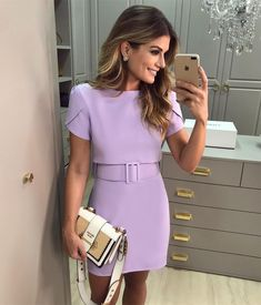 Beautiful 40 Ideas Stylish Dresses for Your Christmas , Stylish Dresses, Casual Dresses, Short Dresses, Dresses For Work, Mode Purple, Classy Outfits, Cute Outfits, Dress Outfits, Fashion Dresses