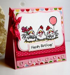 Birthday Card  Handmade Greeting Card  Happy by CardInspired, $3.95