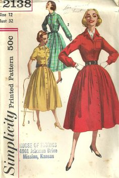 Simplicity 2138 / Vintage 50s Sewing Pattern / by studioGpatterns