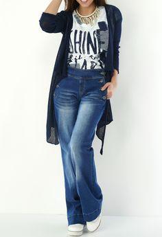 Eros Collection printemps/été 2015 #EROSCOLLECTION #PP15 #SS15 #blue #maxi #jeans #style #70s