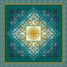 Another Storm at Sea variation. Designed by Jo Moury for an Electric Quilt contest. Blue Quilts, Star Quilts, Quilt Blocks, Quilting Projects, Quilting Designs, Quilt Design, Paper Piecing, Storm At Sea Quilt, Sunflower Quilts