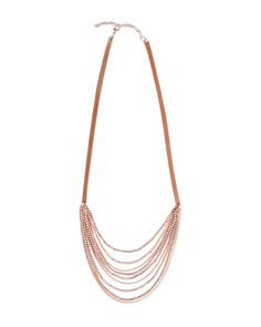 """Trades of Hope -   Product Details:      Multi-strands of rose gold colored beads sway off of leather to create this stunning, yet casual piece.      Approx. Measurements: 30""""   Materials: Leather"""