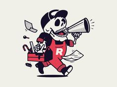 Retro Supply Co. Limited Halloween Edition worker dry goods merchandise merch tees tee illustration branding apparel t-shirt retro supply co mascot skull halloween limited edition growcase Art And Illustration, Character Illustration, Graphic Design Illustration, Halloween Logo, Halloween Design, Vintage Cartoons, Old School Cartoons, Doodle Designs, Graphic Design Typography