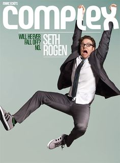 """Seth Rogen on the cover of Complex. As GCM blog puts it """"Love the one green sock."""" Ditto."""