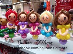 Principesse di palloncini sul bicchiere