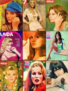Joan Collins, Barbara Bouchet, Sophia Loren, Brigitte Bardot, Rika Diallina, Raquel Welch, Britt Ekland, Ursula Andress & Marisa Mell