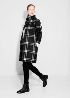Manteau carreaux laine