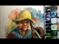How to Paint Watercolor Portraits the Easy Way. Process of watercolor painting step by step full length demonstration by Prashant Sarkar. Watercolor Painting Techniques, Watercolour Tutorials, Painting Lessons, Watercolor Portraits, Watercolour Painting, Painting Portraits, Simple Watercolor, Watercolor Ideas, Painting Tutorials