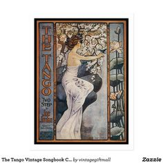 The Tango Vintage Songbook Cover Postcard