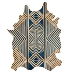In love with this!!!  Blue Geometric Rug- Whole Hide - AVO - $6,500.00 - domino.com
