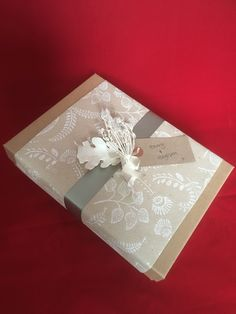 I was asked to wrap in an understated fashion for a gift for Harry and Meghan. What an honour! Www.giftfrippery.co.uk