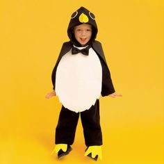 Kids Penguin Costume - using hoodie and black tights/sweatpants and craft foam