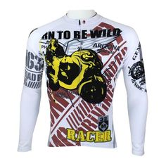 Ilpaladino Motorcycle Men s Long Short-sleeve Cycling Bike jersey T-shirt  Summer Spring Autumn Road Bike Wear Mountain Bike MTB Clothes Sports  Apparel Top ... 310b5a7f7