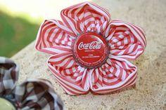 Coletero flor Coca cola Coca Cola, Coco, Flower, Sheet Metal, Coke, Cola