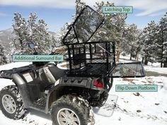 Custom ATV Dog Boxes, available for almost any atv. Take your best friend with you on the trail. Dog Box For Truck, Alaska Cabin, Utv Accessories, Atv Attachments, Dog Seat, Atv Four Wheelers, Quad Bike, Dog Carrier, Small Cars