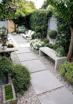 40 Best Backyard Garden Landscaping Design Ideas for Small Garden Backyard Garden Design, Small Garden Design, Backyard Ideas, Garden Ideas, Patio Design, Backyard Seating, Backyard Patio, Reforma Exterior, Side Yard Landscaping