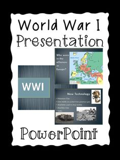 World War I PowerPoint Presentation.  Aligned with 5th Grade Social Studies Standards in Georgia.  100% Editable! Paid