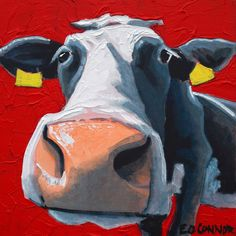 Cow, Artist, Painting, Animals, Animales, Animaux, Painting Art, Paintings, Animal Memes