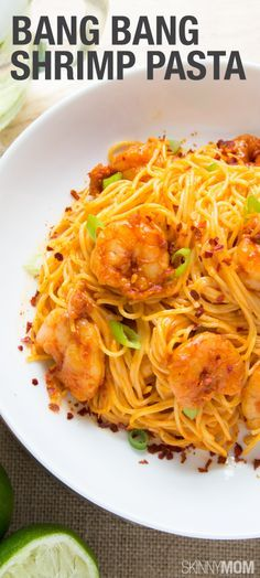 Bang Bang Shrimp Pasta- If you are on a tight schedule, then this protein-packed dinner is the perfect solution for you and your family. You will avoid all those cheesy calories normally found in pasta, while still treating your family to a hearty meal.