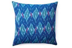 Vibrant 20x20 Cotton Pillow, Blue on OneKingsLane.com