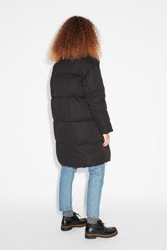 Monki Image 2 of Puff coat in Black