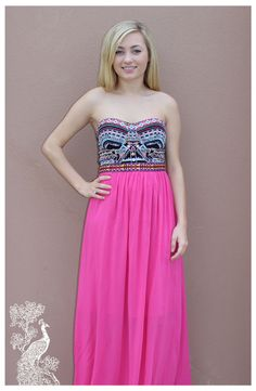 Ruffled Feathers Boutique - Where Is The Tiara Maxi, $53.99 (http://www.ruffledfeathersboutique.com/where-is-the-tiara-maxi/) Perfect for a special occasion or a fancy dinner on vacation. Beaded on top and smooth on bottom very comfortable and easy to walk in!