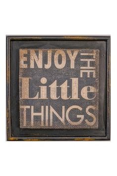 Burlap Enjoy the Little Things Print Wall Art