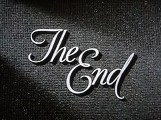 black and white, cinema, movies, the end, type