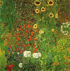 Gustav Klimt (Austrian Symbolist painter, 1862-1918). Farm Garden with Sunflowers 1907
