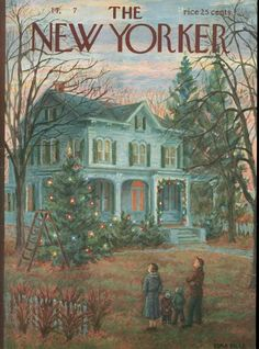 Vintage Illustrations The New Yorker December 14 1957 - The New Yorker December 14 1957 Christmas Cover, Christmas Scenes, Christmas Past, Christmas Pictures, Xmas, Office Christmas, The New Yorker, New Yorker Covers, Illustration Noel