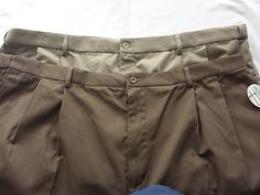 Scandia Woods Men's Shorts Size 48 Lot of 2 Tan and Brown Adjustable Waistband #ScandiaWoods #CasualShorts