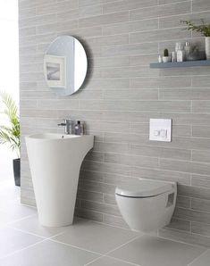 Come arredare il bagno con il grigio - Rivestimento bagno grigio chiaro