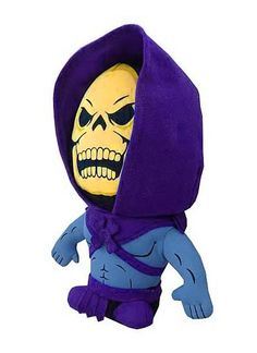 Skeletor is here from Masters of the Universe! Whether you use the 7-inch tall Masters of the Universe Skeletor Super Deformed Plush as a throw pillow or another awesome shelf display next to your Masters of the Universe action figures, you're going to love the unique look of this plush! The Masters of the Universe toy line took the 1980s by storm, and the name lives on eternally, on Eternia and Earth, with this terrific line of super-deformed MOTU plush from Comic Images. $14.99
