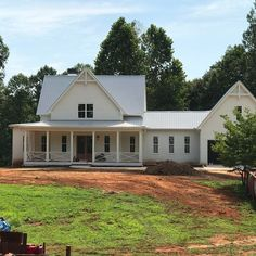 """13 Likes, 3 Comments - Bill Finesilver (@wolfcreekhomesatl) on Instagram: """"#fourgableshouseplan #farmhouse #newconstructionhome almost completed"""""""
